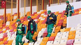 Yeni Malatya Stadyumu dezenfekte edildi