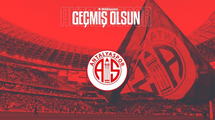 Antalyaspor'dan F.Bahçe'ye geçmiş olsun mesajı