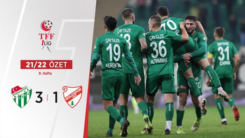 ÖZET | Bursaspor 3-1 B. Boluspor