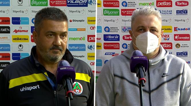 A. Alanyaspor-Ç. Rizespor maçının ardından