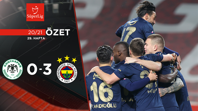 ÖZET | İH Konyaspor 0-3 Fenerbahçe