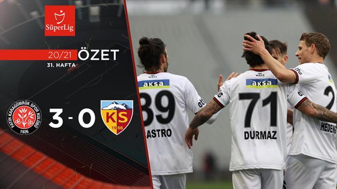 ÖZET | Fatih Karagümrük 3-0 HK Kayserispor