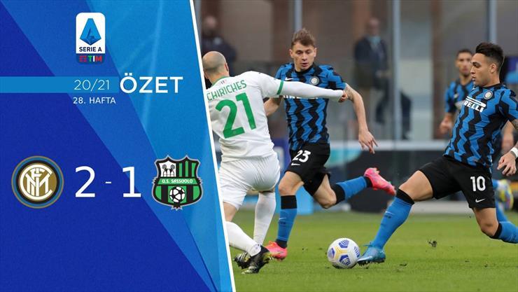 Inter, con gol de Lautaro Martínez, derrotó a Sassuolo  |Inter- Sassuolo