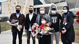 Beşiktaş'a Sivas'ta çiçekli karşılama