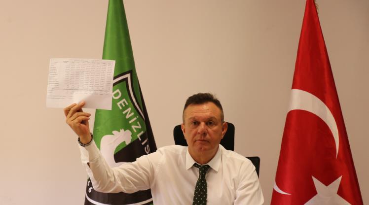 Denizlispor Başkanı Ali Çetin'den adaylık açıklaması