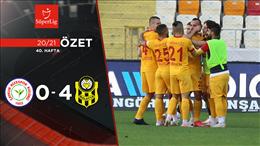 ÖZET   Ç. Rizespor 0-4 H. Yeni Malatyaspor