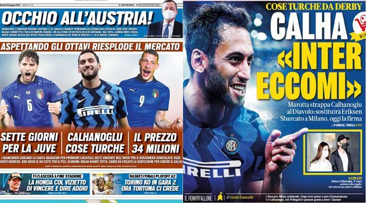 GALERİ | İtalya'da manşetleri Hakan süslüyor