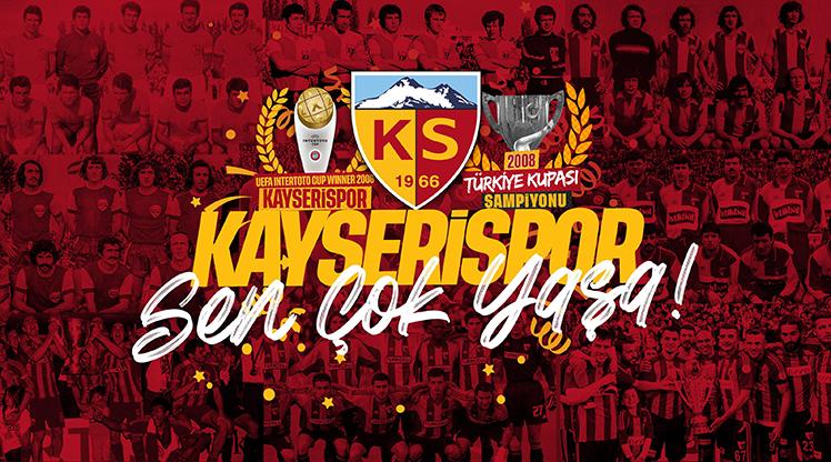 Kayserispor 55. kuruluş yılını kutluyor