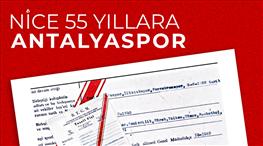 Antalyaspor 55. yaşını kutluyor
