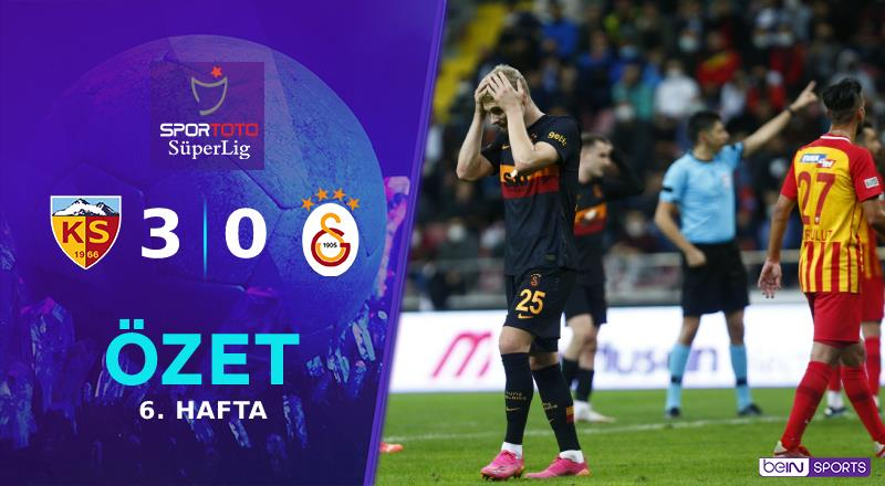 ÖZET   Y. Kayserispor 3-0 Galatasaray
