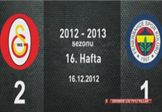 Galatasaray-Fenerbahçe: 2-1